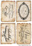 Декупажные карты Vintage label    30 гр/м2