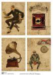 Декупажные карты Men & Vintage 30 гр/м2