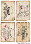 Декупажные карты Vintage label 4   30 гр/м2