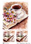 Vintage flowers 5  30 гр/м2
