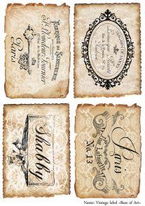 Vintage label    30 гр/м2